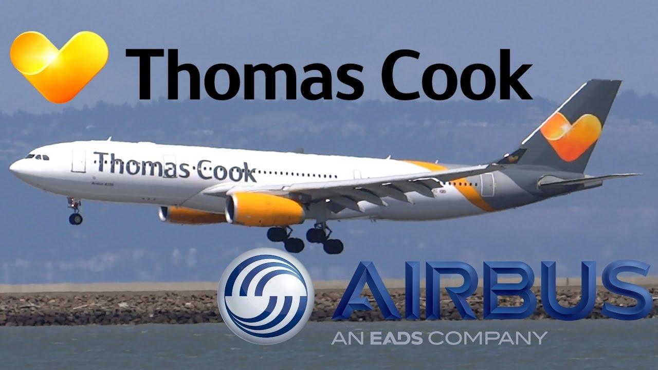 Download HD Thomas Cook Airbus A330-243 G-TCXC Inaugural Landing at San Francisco International Airport