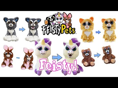 Feisty Pets Cute to Scary Plush Animals