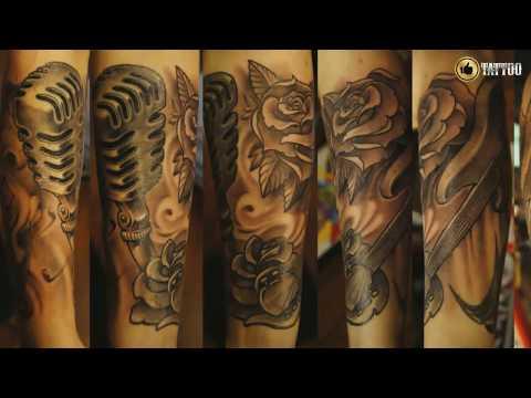 Best Musical Instruments Pattern Tattoo Design Idea