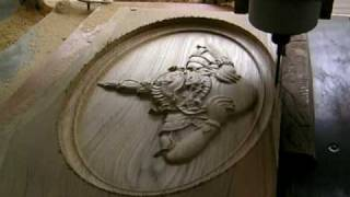 CNC cutting wood for the demon who causes eclipses1 4