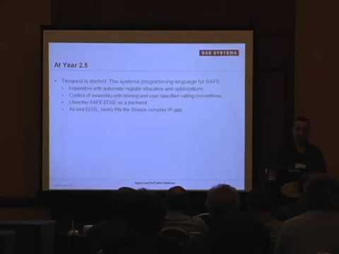 CUFP 2013:  Tom Hawkins: Redesigning the Computer for Security