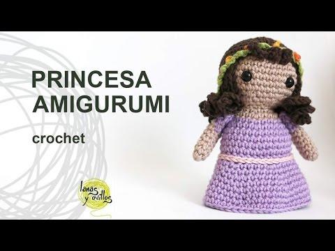 Tutorial Amigurumi Debutant : Tutorial Princesa Amigurumi Crochet o Ganchillo - YouTube