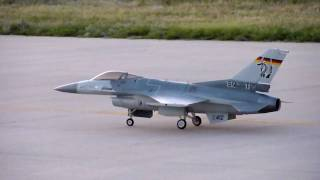 F-16 RC turbine taxi low fuel flameout