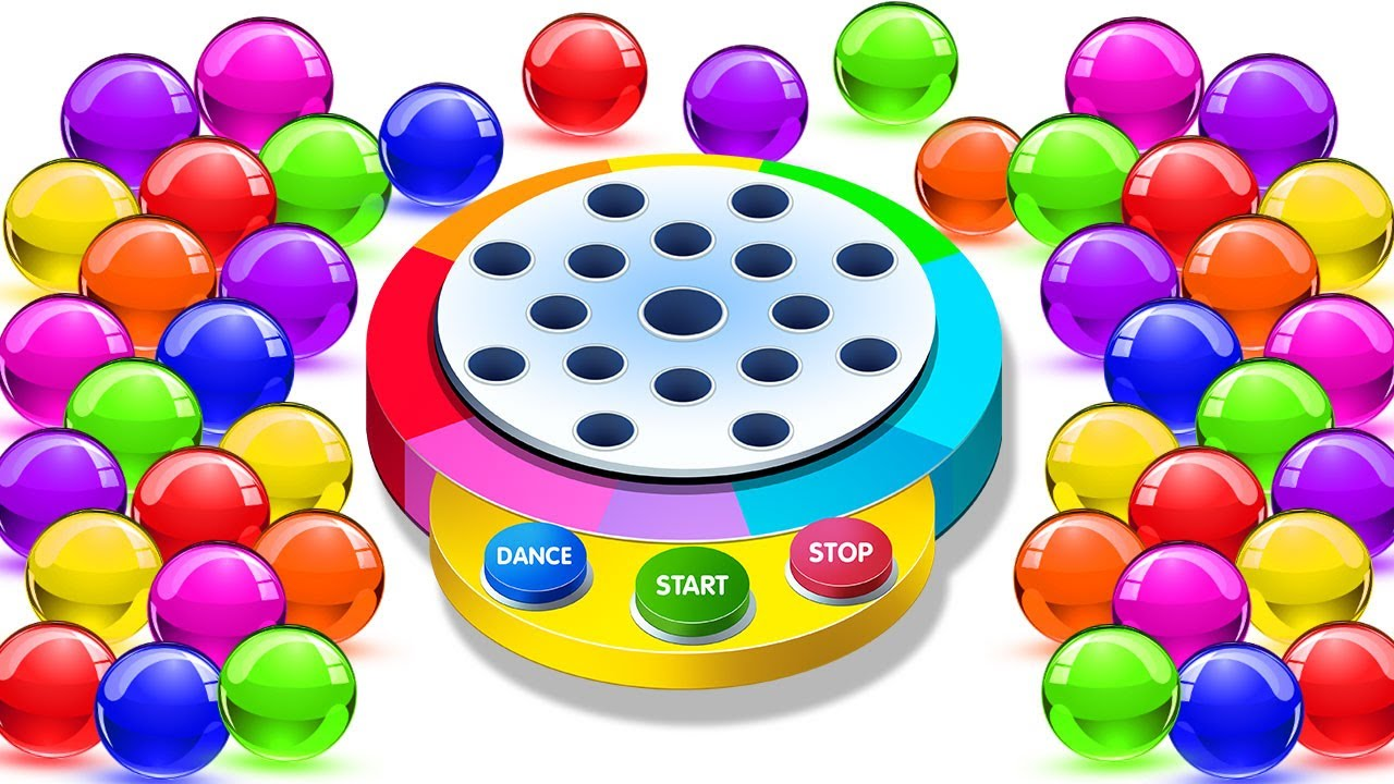 Kidscamp Learn Colors With Dancing Balls On Finger Family Song By