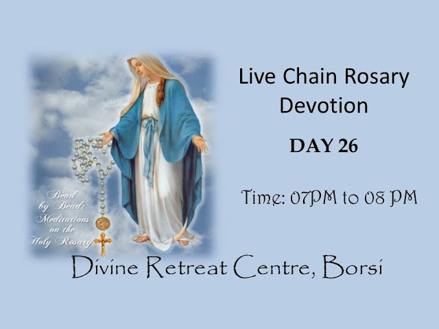 Live Chain Rosary Devotion | Monday | 26th October 2020 | 07:00 PM
