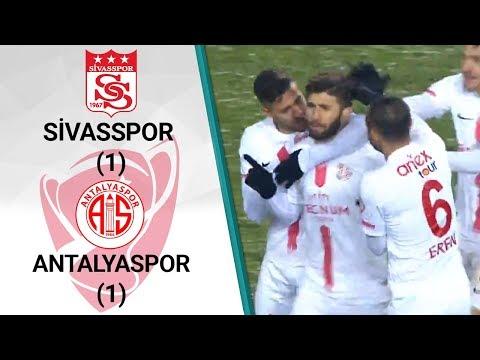Sivasspor 1 - 1 Antalyaspor MAÇ ÖZETİ (Ziraat Türkiye Kupası Çeyrek Final Rövanş