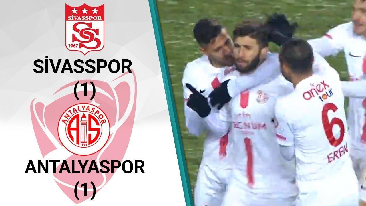 Sivasspor 1 - 1 Antalyaspor MAÇ ÖZETİ (Ziraat Türkiye Kupası Çeyrek Final Rövanş Maçı)