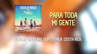 Efecto Pasillo - Para Toda Mi Gente [Lyric Video Oficial]