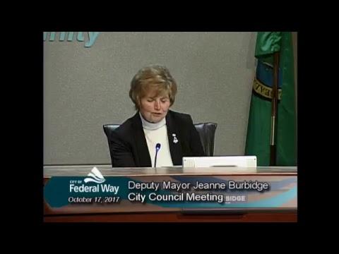 10/17/2017  - Federal Way City Council - Regular Meeting