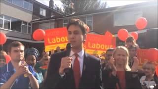 Ed Miliband visits Middleton to support Liz McInnes