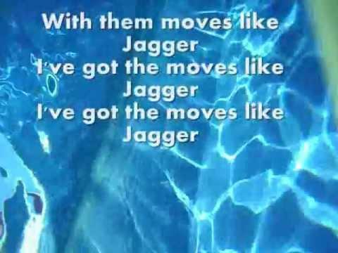 Moves like Jagger -Maroon 5 lyric video (Clean)