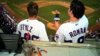 Stylz & Roman sing the 7th inning stretch!!!