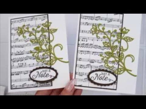 Sheet Music & Flourish Thinlits Case Card Class #184 Stampin up Stamps.