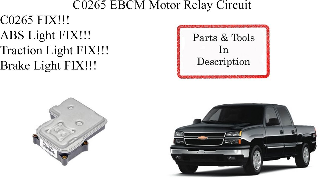 how do i fix the c0265 abs code? chevy truck forum gm truck club Chevy Tahoe Wiring Diagram