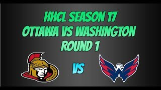 Roblox HHCL Saison 17 Séries éliminatoires 1 Ottawa Meilleurs moments vs Washington Match 1,2,5