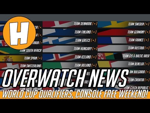 Overwatch News - World Cup Qualifiers, Console Free Weekend!