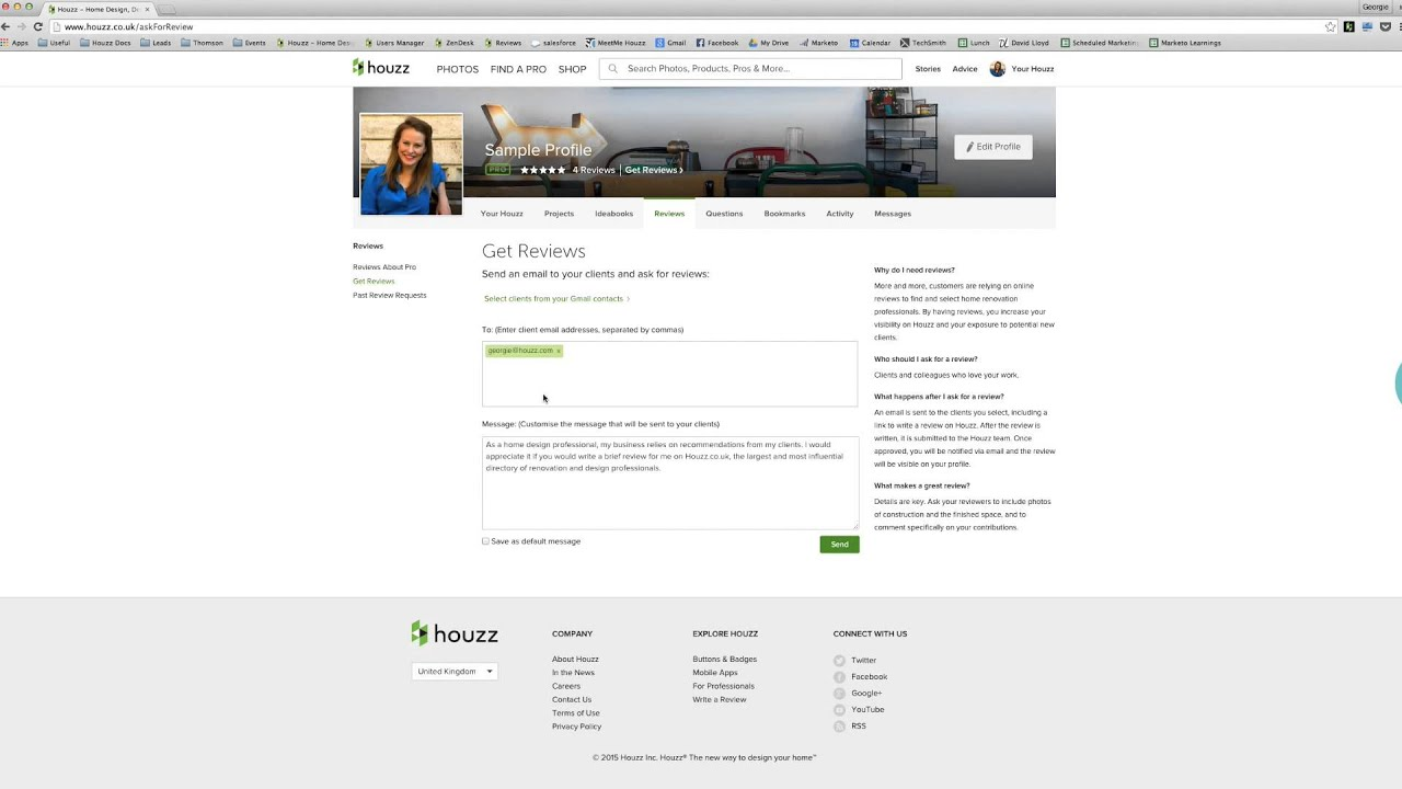 Houzz for UK Pros: How to Get Reviews