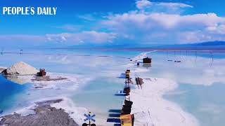 Refresh your day with the Caka Salt Lake in northwest China's Qinghai