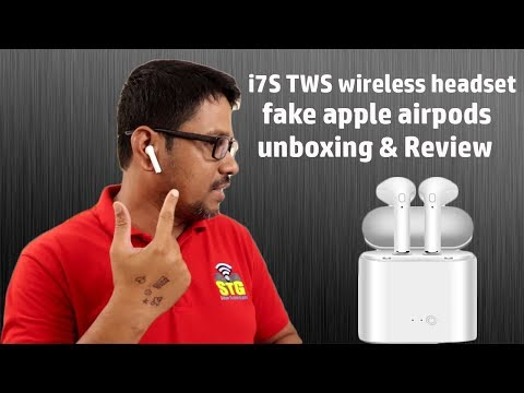 Hindi || I7S TWS Wireless Headset Fake Apple Air Pods Unboxing And Review