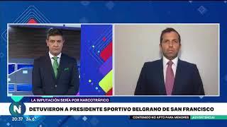 Detuvieron al presidente de Sportivo Belgrano de San Francisco