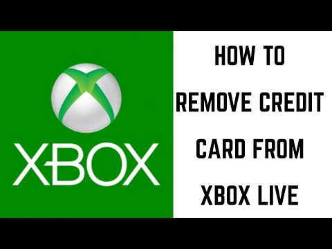 How to Remove Credit Card from Xbox - YouTube