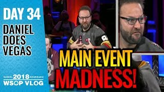 Main Event Day 1 MADNESS! - 2018 WSOP VLOG Day 34
