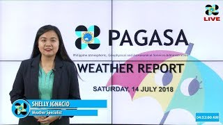 Public Weather Forecast Issued at 4:00 AM July 14, 2018