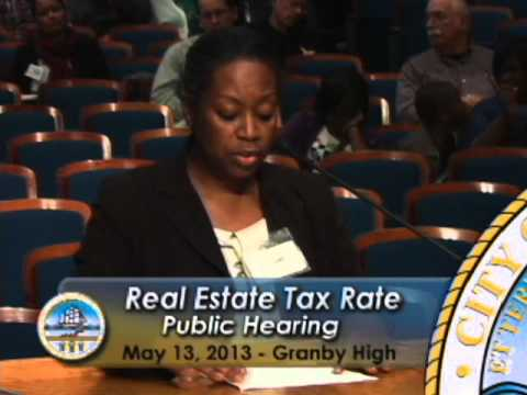 2nd Real Estate Tax Rate Increase Public Hearing - City of Norfolk