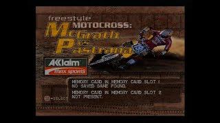 Gameplay Ps1 - Freestyle Motocross: McGrath vs Pastrana PAL (2000)