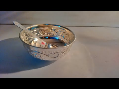 Saravana stores  Thanga Nagai Maligai  | silver bowl and spoon unboxing |