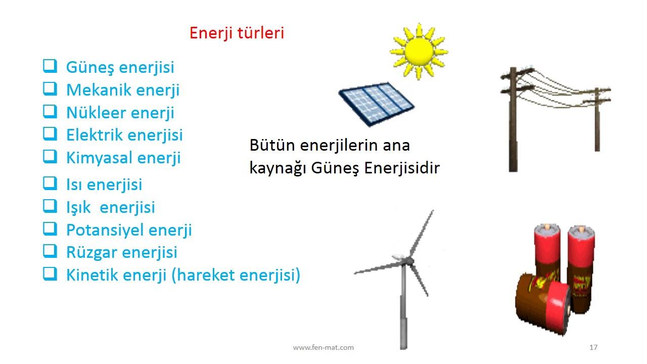 Enerji Türleri ve Enerji Kaynakları 13