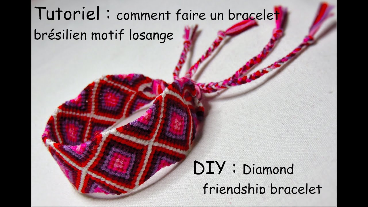 comment faire un bracelet br silien losange diy diamond friendship bracelet youtube. Black Bedroom Furniture Sets. Home Design Ideas