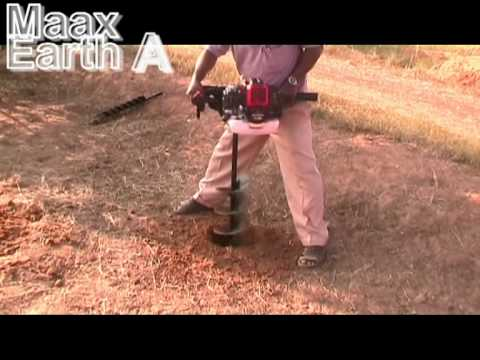 Maax Earth Auger Post Hole Digger Youtube