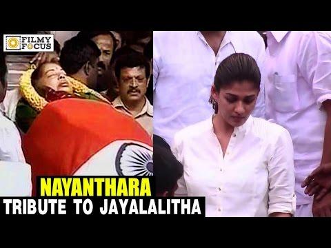 Nayanthara pays Tribute to Jayalalitha, at Rajaji Hall - Filmyfocus.com