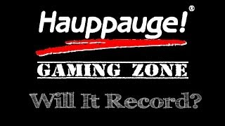 Will it Record? PC [Hauppauge HD PVR 2]
