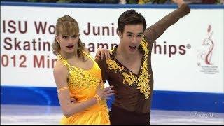 [HD] Gabriella Papadakis and Guillaume Cizeron 2012 World Junior - Short Dance