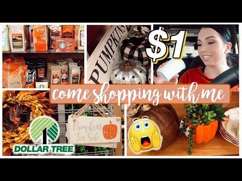 Fall Decor Shop With Me at DOLLAR TREE & TJ MAXX