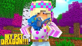 Minecraft LITTLE LEAH GETS A BABY PET DRAGON!!!