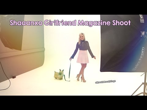 Shaaanxo Girlfriend Magazine Photo Shoot | MooshMooshVlogs