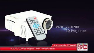 Homeshop18.com - VIZIO VZ-D200 3D Projector With Free 3D Glasses