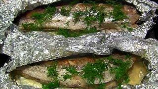 Хек запеченный в фольге Самый простой рецепт диетической рыбки Baked fish diet meal