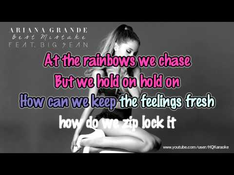 Ariana Grande - Best MIstake (ft. Big Sean) [Karaoke / Instrumental]