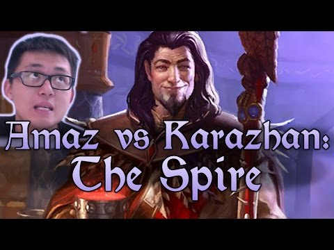 [Hearthstone] AMAZ VS KARAZHAN: The Spire (Wing 4, Normal) and Class Challenges