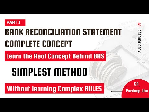 Bank Reconciliation Statement - BRS Simplified - XIth, CPT  - CA Pardeep Jha, Part - 1