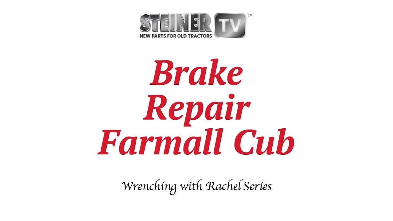 medium resolution of brake installation on a cub tractor