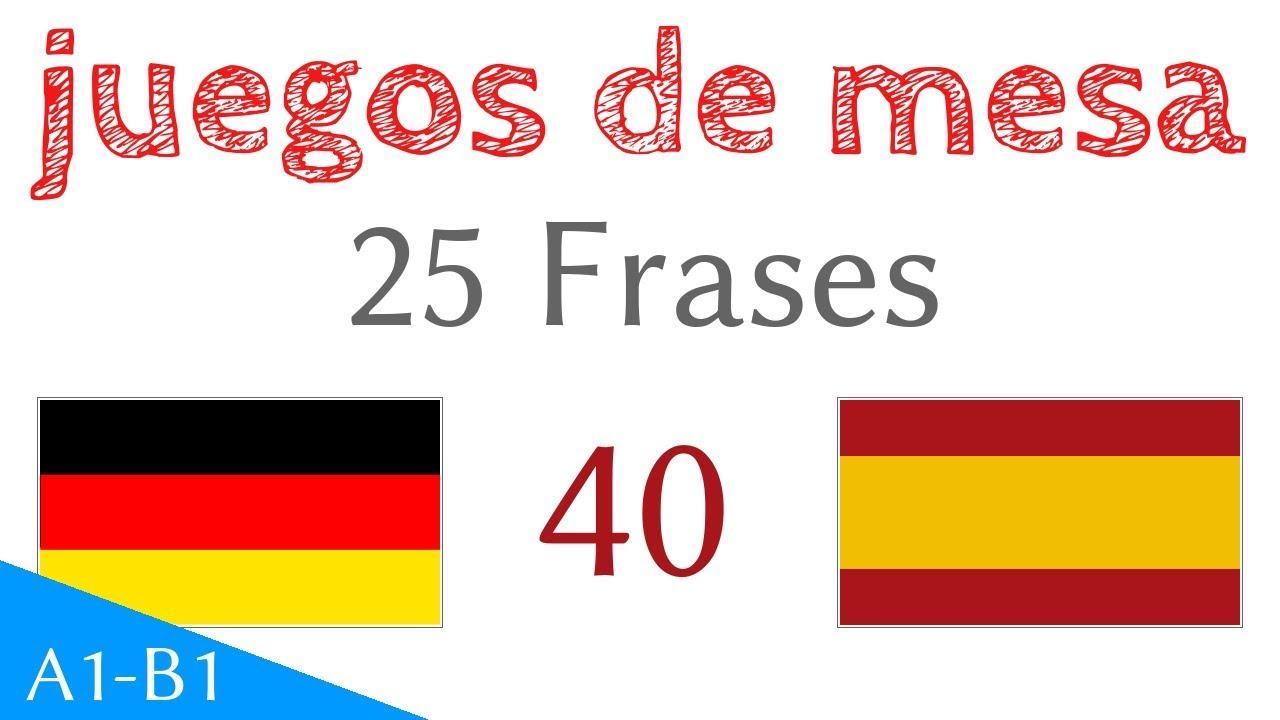 Juegos De Mesa Frases Alemán Español S 40