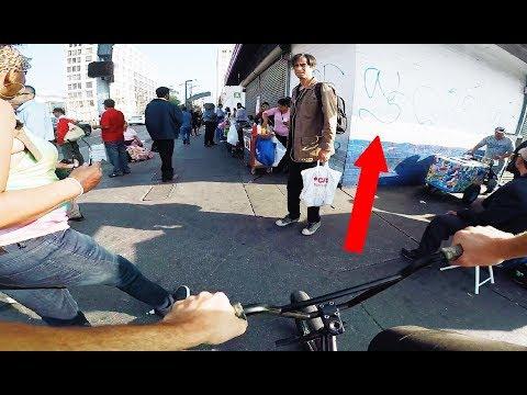 RIDING BMX IN L.A. GANG ZONE (BMX IN THE HOOD - MacArthur Park)
