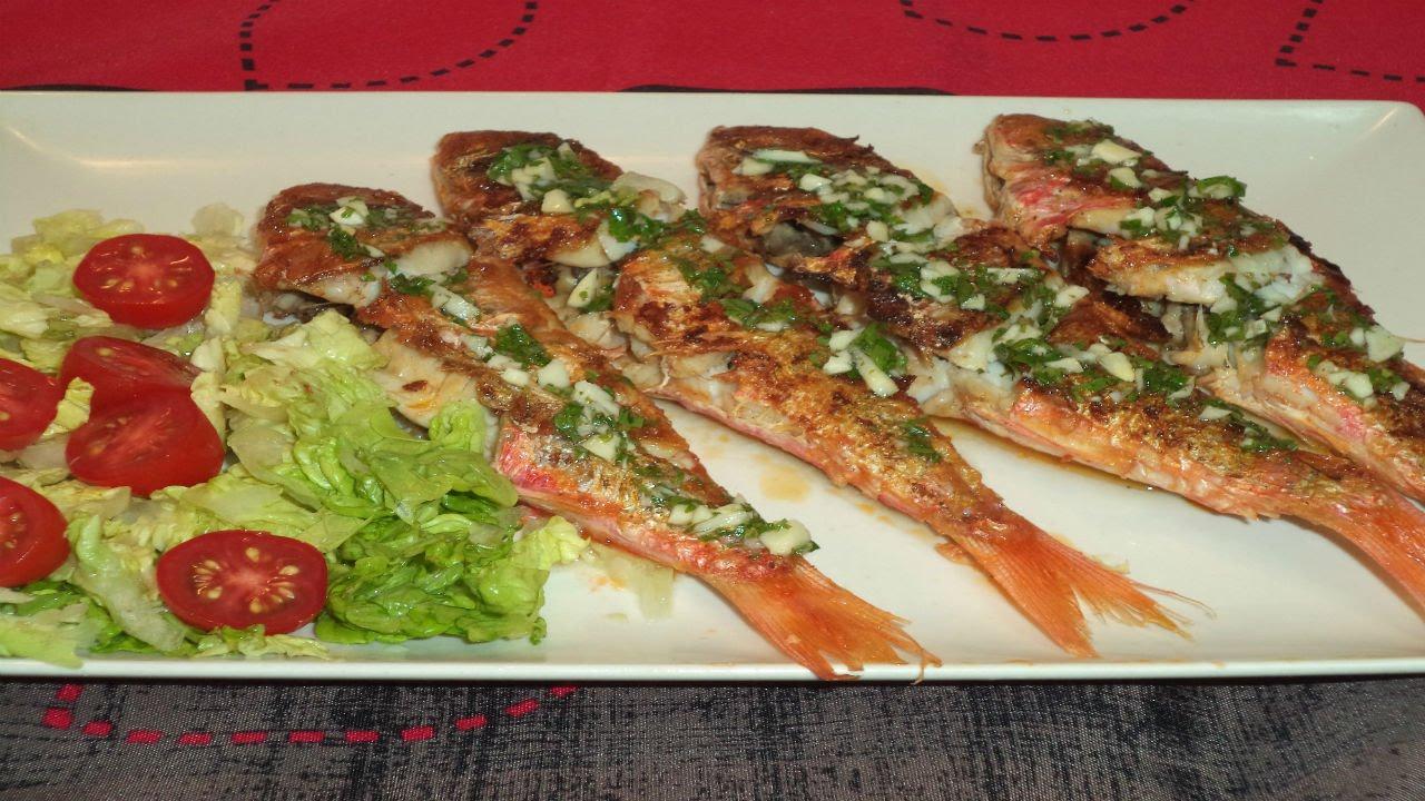Salmonetes a la plancha recetas de cocina youtube - Plancha de cocina ...