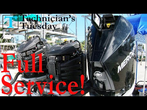 Mercury V8 Outboard Service | 100 Hour | Water Pump