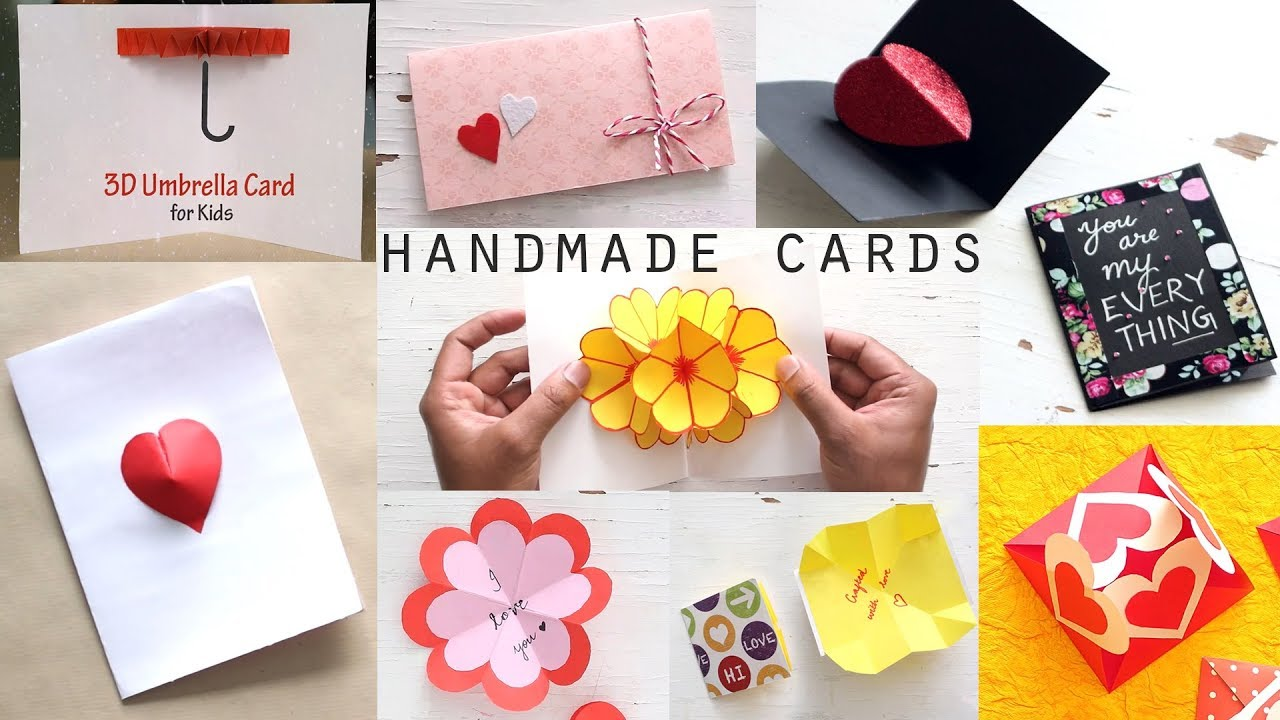 10 Stunning Diy Handmade Greeting Cards Paper Craft Ideas Youtube
